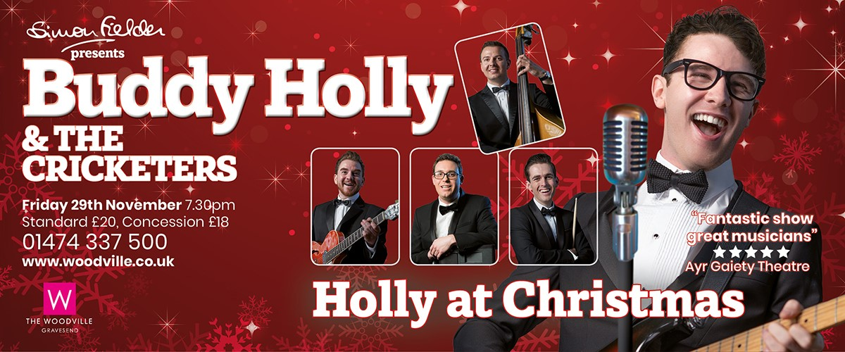 Buddy Holly at Christmas at The Woodville Gravesend